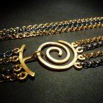 4-strängige Erbskette mit Spiralschließe